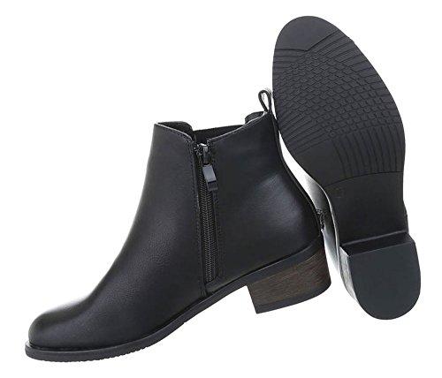 269f87016897 Damen Schuhe Stiefeletten Used Optik Boots Schwarz - vitalogie-sg.de