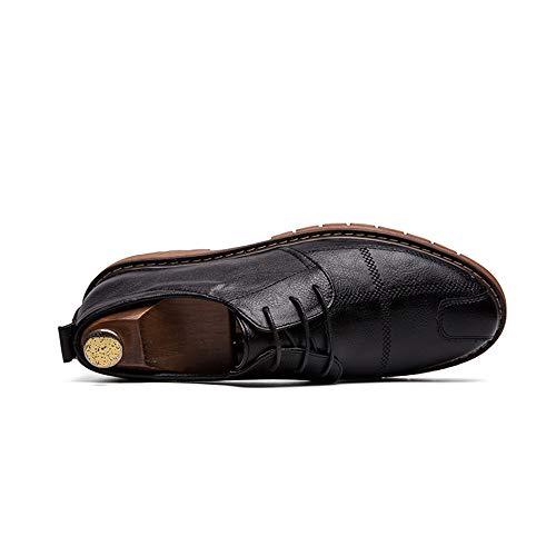 Scarpe Comode Nero Dimensione Classic Men's Semplici Nero All'abrasione Stringate 42 Inglese Fashion Eu Oxford Stile Dadijier E Retro color Casual Resistente 7qxanYT