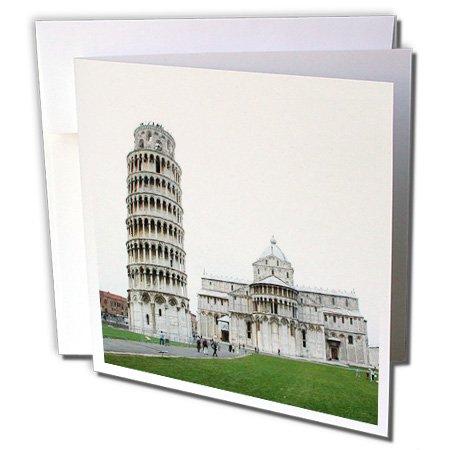 - 3dRose Tower Of Pisa Italy - Greeting Cards, 6 x 6 inches, set of 6 (gc_1138_1)