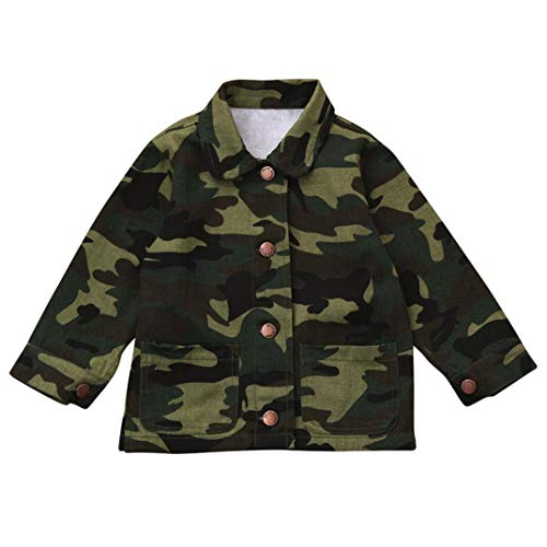 Moonker Baby Denim Jacket 2-6 Years Old,Toddler Girls Boys Kids Camouflage Letter Coat Cloak Warm Thick Outerwear Clothes (2-3 Years Old, Camouflage)