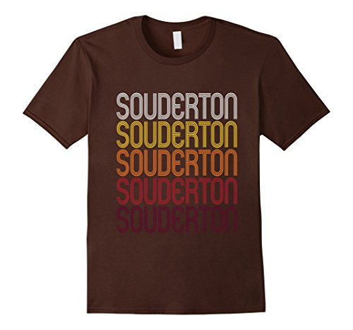 Men's Souderton, PA | Vintage Style Pennsylvania T-shirt XL Brown (Souderton Pa)