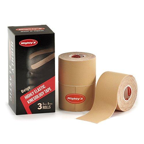 "Professional Kinesiology Tape - 3 Pack Beige - Uncut Kinesio Tape - Synthetic Kinetic Tape - Heavy Duty Sport Tape - Muscle Tape - KTape - Knee Tape - Premium Synthetic Sports Tape - K Tape - 2"" x 5y"