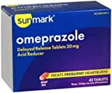 Omeprazole Tablet Sunmark 20Mg Generic Prilosec Otc - 1 BOX 42 per Box