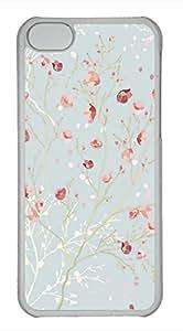iPhone 5c case, Cute Blue Pink Flower iPhone 5c Cover, iPhone 5c Cases, Hard Clear iPhone 5c Covers