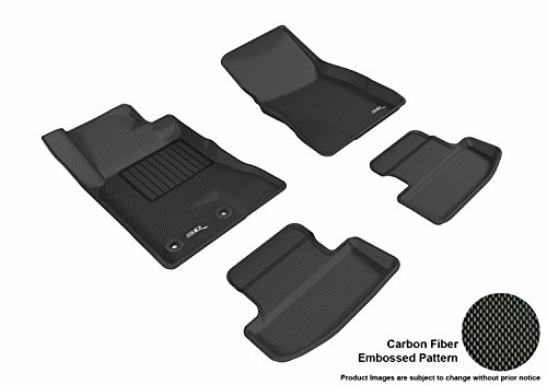Complete Rubber - 3D MAXpider Custom Fit Complete Floor Mat Set for Select Ford Mustang Models - Kagu Rubber (Black)