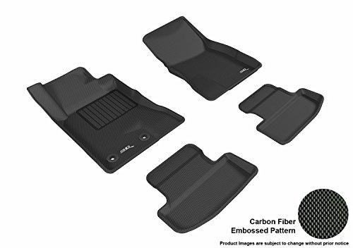 - 3D MAXpider Custom Fit Complete Floor Mat Set for Select Ford Mustang Models - Kagu Rubber (Black)