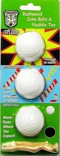 Gift Pack Balls Tees (A&R Collectibles, Inc. CADDYSHACK Bushwood Joke Gag Golf Balls with Lady Tees)
