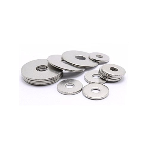 M10 A2 Stainless steel penny repair timber mudguard washer DIN 9021 Pack Size : 20 Generic