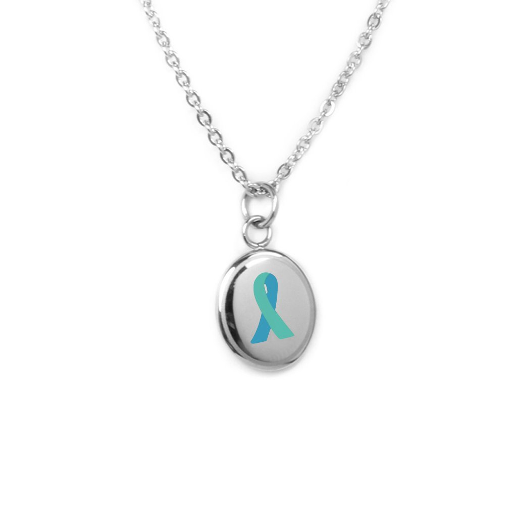 My Identity Doctor Custom Engraved Teal Awareness Necklace 22in//56cm 316L Steel With Clasp