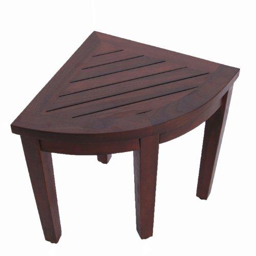 Oasis Bathroom Teak Corner Shower Seat Stool Chair Bench Sitting Storage Or Ebay