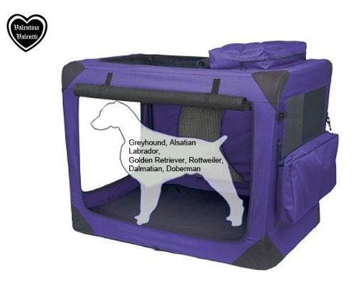 Valentina Valentti XXL Dog Folding Carrier Transport Soft Crate Purple V8