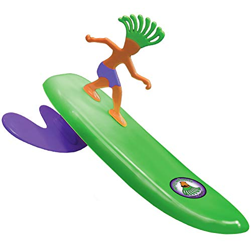 Surfer Dudes 2019 Edition Wave Powered Mini-Surfer and Surfboard Toy - Donegan Doolin - Green