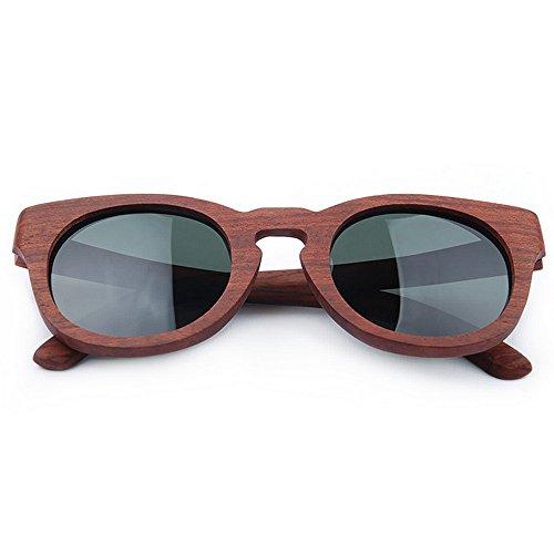 marrón de Ojos gato de sol de Gafas lente madera TAC polarizada de mano retro hechas gafas UV hombres sol de alta calidad de de pl sol protección de de de los gafas Gafas a conducción la sol de oscura RSRqFIY