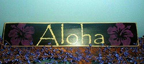 ALOHA (Choose Color) HAWAII Rustic Shabby Chic (Latex Aloha)