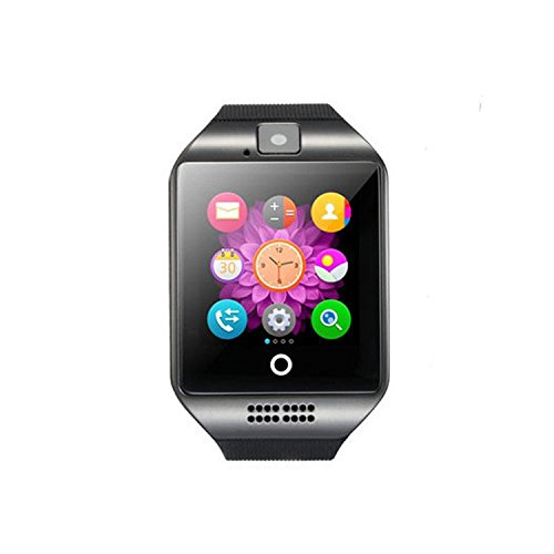 Amazon.com: Bluetooth Smart Watch Reloj Inteligente Q18 with SIM TF Card Slot NFC 1.3M Camera Video Facebook Twitter for Samsung Android/Apple IOS Phones ...