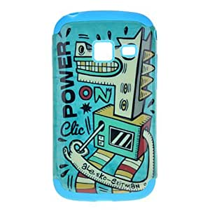 Cockhorse Pattern Detachable TPU and Plastic Back Cover Case for Samsung S6102