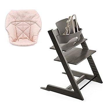 Amazon.com: Stokke Tripp Trapp con Set de bebé, brumosa gris ...