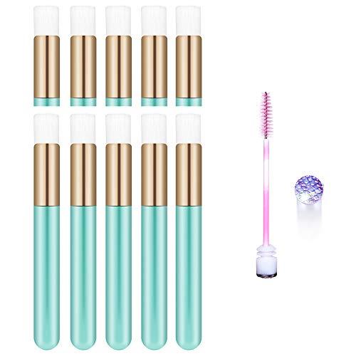 10 Pcs Turqoise Lash Shampoo brushes Cosmetic Brushes Peel Off Blackhead Brush Remover Tool Nose Cleaning Washing Brush Lash Cleanser Soft Brushes