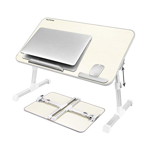 Laptop Bed Table (Large Size), Nearpow Adjustable Laptop Bed Tray, Portable Standing Table, With Foldable Legs, Foldable Sofa Couch Notebook Table, Tablet Holder Floor Table