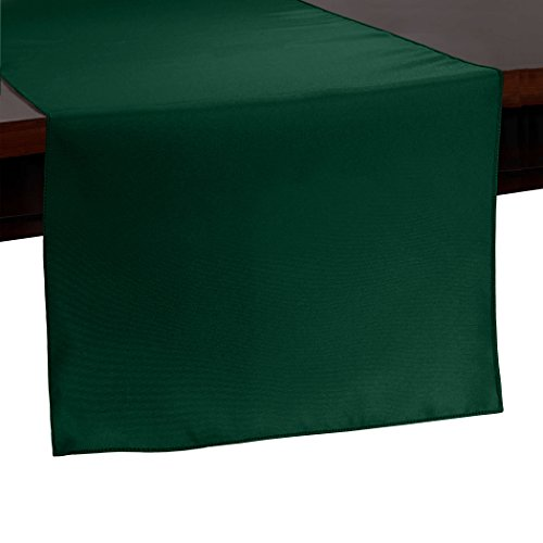 Ultimate Textile -10 Pack- 14 x 54-Inch Polyester Table Runner, Hunter Green