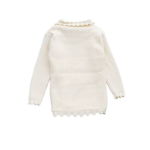 Lisianthus Baby and Little Girl's Solid Lace Warm Sweater