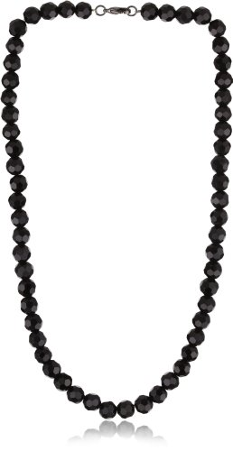 1928 Jewelry Vintage-Inspired Jet Black Beaded Necklace
