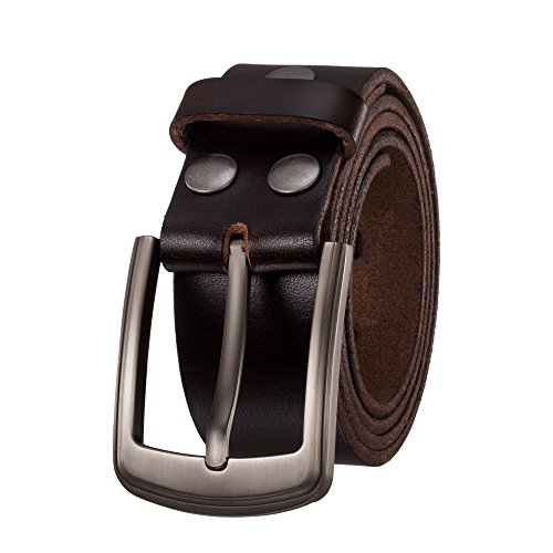 - KEEPBLANCE Men's Classic Casual Jean Style Strong Built Genuine Leather Belt Gift Box