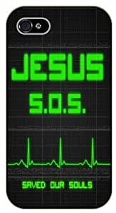 For SamSung Note 3 Case Cover Jesus saved our souls, S.O.S. - black plastic case / Keep Calm, Motivation and Inspiration, heart beat