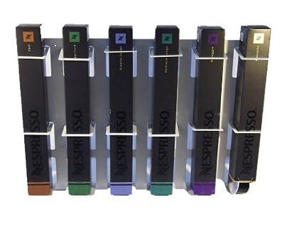 Coffeeboard Dispensador de cápsulas Portacápsulas para 6 Nespresso Paquetes, Tischboard, Color blanco Nespressocenter de