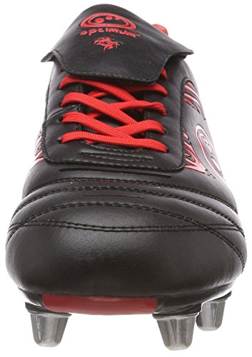 Optimum de Rugby Chaussures Homme Black Red Red Razor Rouge x4qz7TH