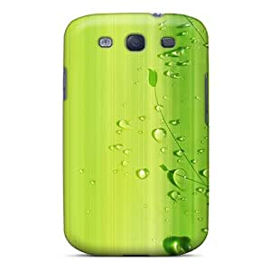 LlY14406nCCp Case Cover Green Wall And Drops Galaxy S3 Protective Case