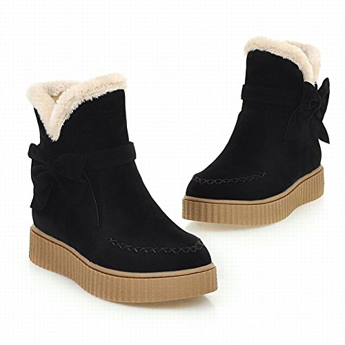 Carolbar Womens Cute Lovely Fashion Comfort Warm Bows Snow Boots Black trXqudzq