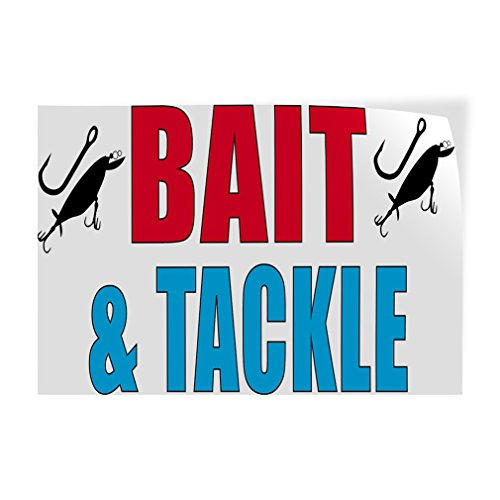 Bait & Tackle #1 Indoor Store Sign Vinyl Decal Sticker - 14.5inx36in,