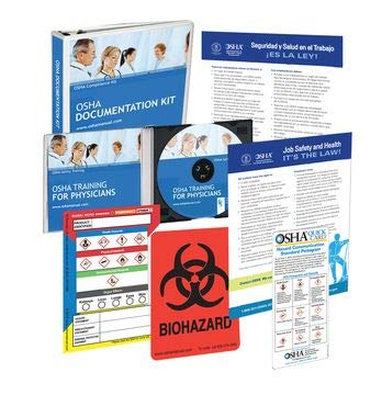 2020 OSHA Training Package for Medical Offices Including Regulations and Standards Manual (hardcopy) + Safety Policies…