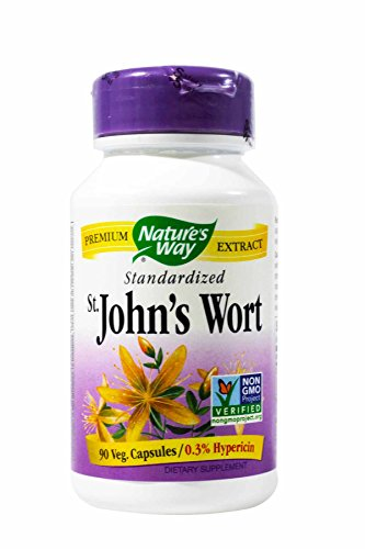 Natures Way St Johns Wort Standardized Capsule – 90 per pack — 3 packs per case. For Sale