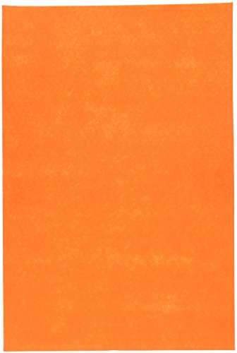 Darice 12 by 18 inch, Stiff Felt Sheet, Orange, 1 (12