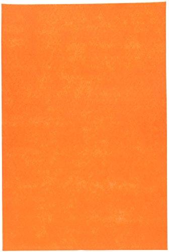 Darice 12 by 18 inch, Stiff Felt Sheet, Orange, 1 (12