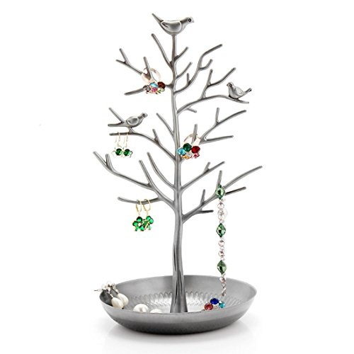 Pasutewel Birds Tree Jewelry Stand Vintage Antique Display Earring Bracelet Necklace Holder Organizer Rack ()
