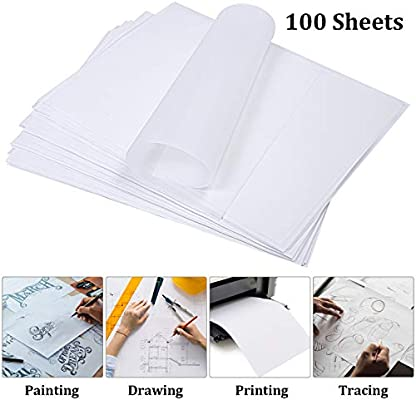 Clear Tracing Vellum Sheet AIEX 50 Sheet 11 x 8.5 Inch Translucent Vellum Paper Printable Vellum Drafting Paper for Art Printing Sketching Drawing Scrapbooking
