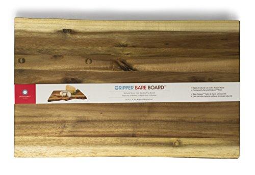Architec Gripperwood Bare Acacia Cutting Board, Non-Slip Gripper Feet, 11