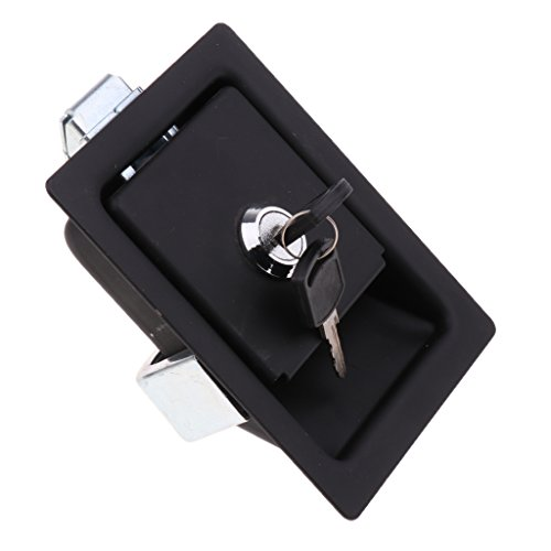 D DOLITY Easy Install Safety Car Stainless Steel Folding Toolbox Lock