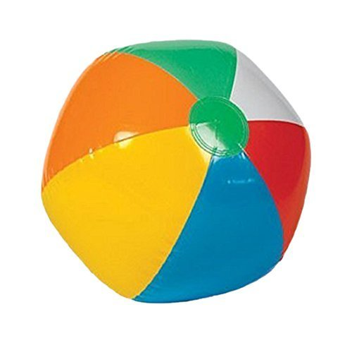 Inflatable 12'' Rainbow Color Beach Balls (36 Pack) - Colors Varied
