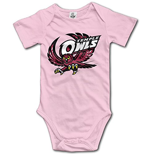 Price comparison product image OOKOO Baby's Temple University Owls Bodysuits Pink 6 M