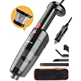 GOOLOO Car Vacuum Cleaner High Power 6500PA Strong Suction Handheld Portable Corded Small Vacuum DC 12V for Quick Car Cleaning