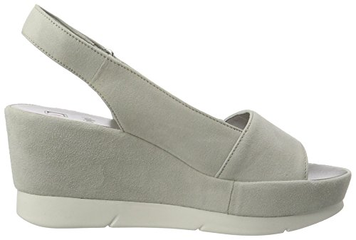 HÖGL 3-10 3412 6700, Women's Slingback Wedge Sandals Grey (Lightgre6700)