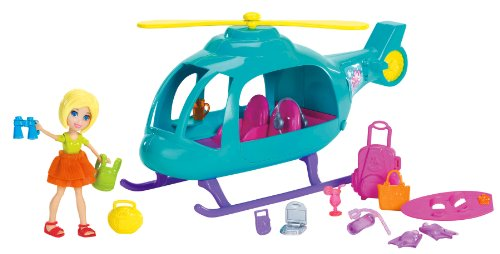 Amazoncom Polly Pocket Vacation Helicopter Playset Toys  Games