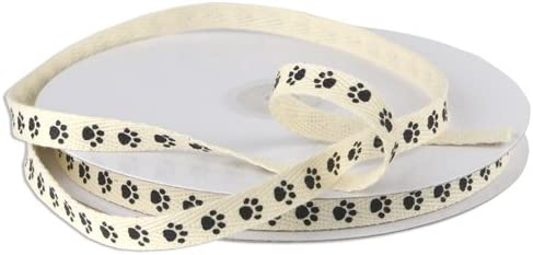 PAW Print Cotton Twill Ribbon 5 Yards