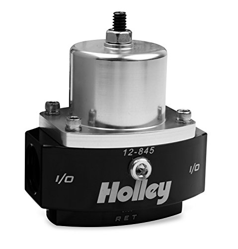 Holley Carb Fuel Pressure - Holley 12-845 8AN Inlet / 2 x 6AN Outlet 4.5-9 PSI Adjustable Bypass Billet Fuel Pressure Regulator