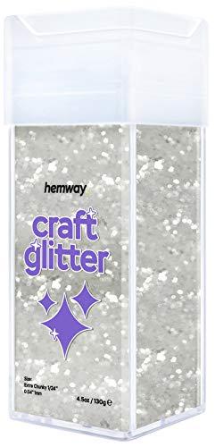Chunky Craft Glitter Shaker para manualidades blanco 110 gr