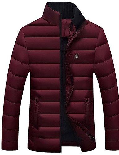 ASDASD SWDFSDF Herren Gefüttert Mantel,Standard Einfach Übergröße Solide-Baumwolle Kunstseide Polypropylen Langarm